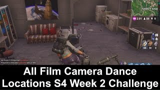 Fortnite Season 4 Battle Pass Week 2 Challenge - All Film Camera Dance Locations