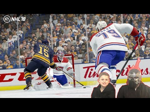 Kids Hockey EA Sports NHL 18 Threes Rusty Challenges CBAnks to a game