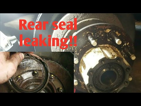 Ford dually rear hub seal removal... part 1