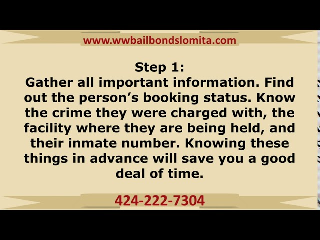 How bail bonds work in Lomita, CA!