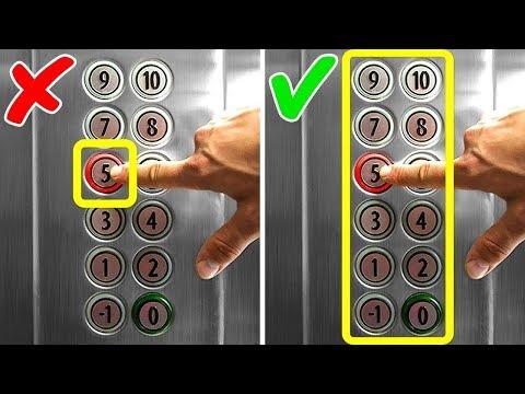 La seule manière d'échapper à un ascenseur bloqué