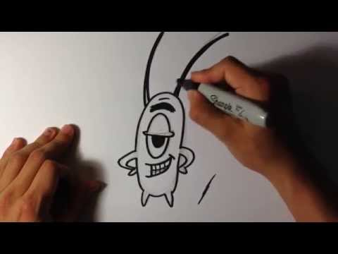 how-to-draw-plankton-from-spongebob---easy-things-to-draw