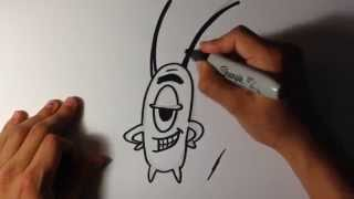 How to Draw Plankton from Spongebob - Easy Things To Draw