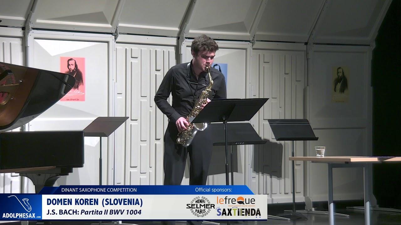 Domen Koren (Slovenia) - Partita II by J.S.Bach (Dinant 2019)