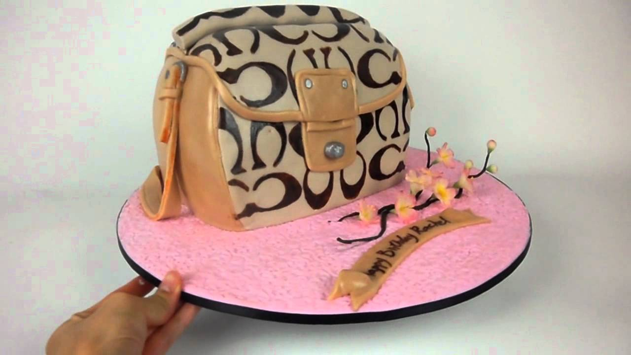 How To Make A Purse Cake With Fondant