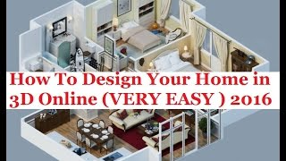 How To Design Your Home In 3d Online 2016 Urdu/hindi