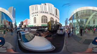 360 Video: Burnt Out Moving Truck -  VIDEO 0269