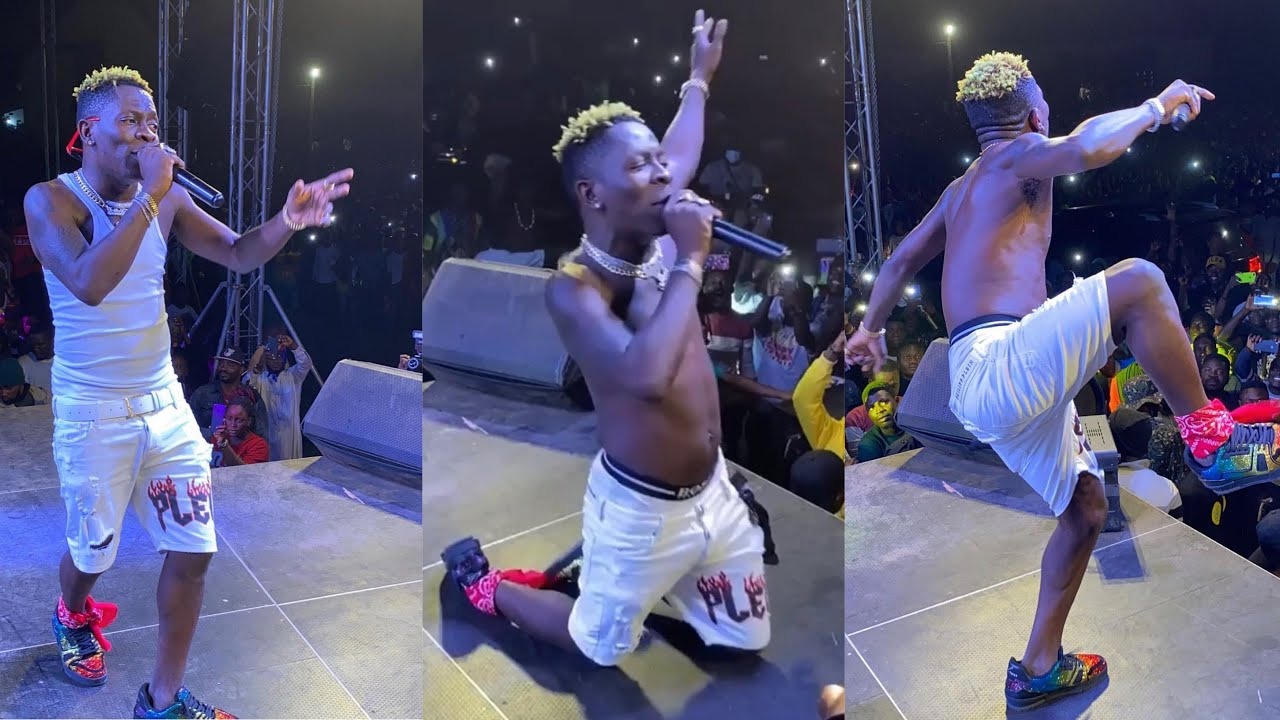 Shatta Wale On His Knees To Beg Ghana Police - Full Performance Victory Concert