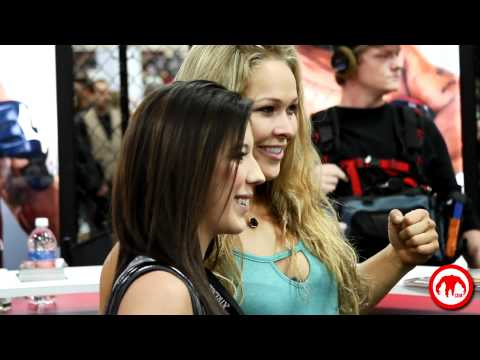 Ronda Rousey Signing Autographs at the UFC Fan Expo 2012 in Las Vegas at the Mandalay Bay