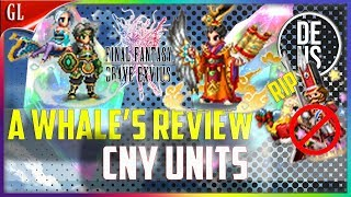 Emperor Foo, Xuan Wu&Qing Long A Whales Review Unit Review Final Fantasy Brave Exvius Global FFBE GL
