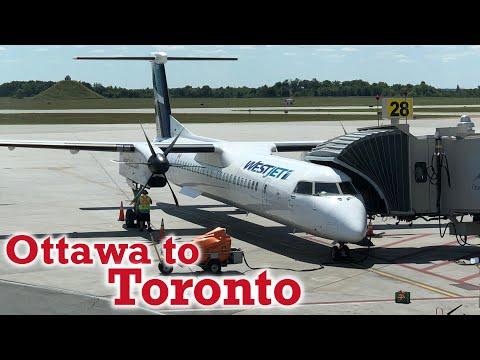 Full Flight: WestJet Encore Dash 8 Q400 Ottawa To Toronto (YOW-YYZ)