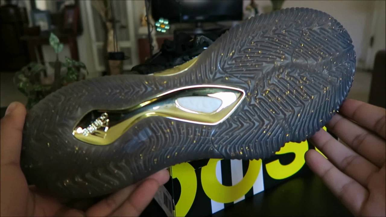 7f15794f0a86 ... where can i buy adidas crazylight boost 2016 black gold on feet youtube  dec96 267d7
