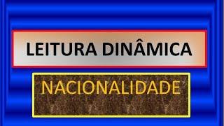 Constituição Federal de 1988 -NACIONALIDADE