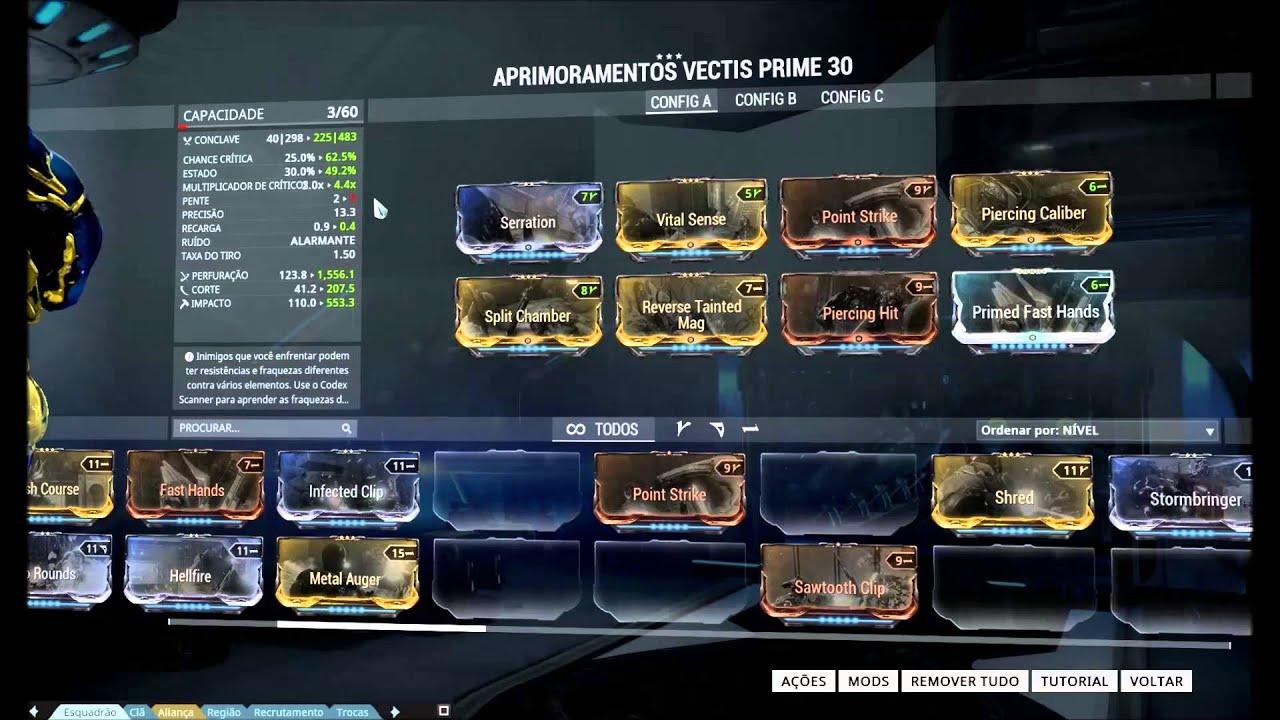 Warframe Vectis Prime Build