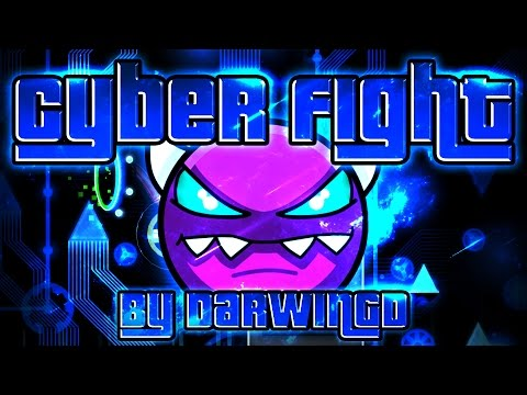 Geometry Dash - Cyber Fight 100% GAMEPLAY Online (DarwinGD) MEDIUM DEMON