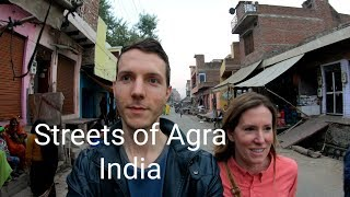 Foreigners Walk the Streets of AGRA India