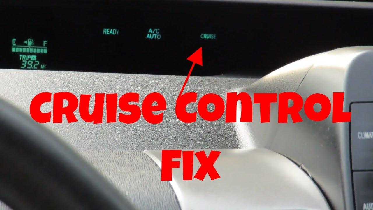 Fix Blinking Cruise Control Light Problem On 2001 2009 Toyota Prius
