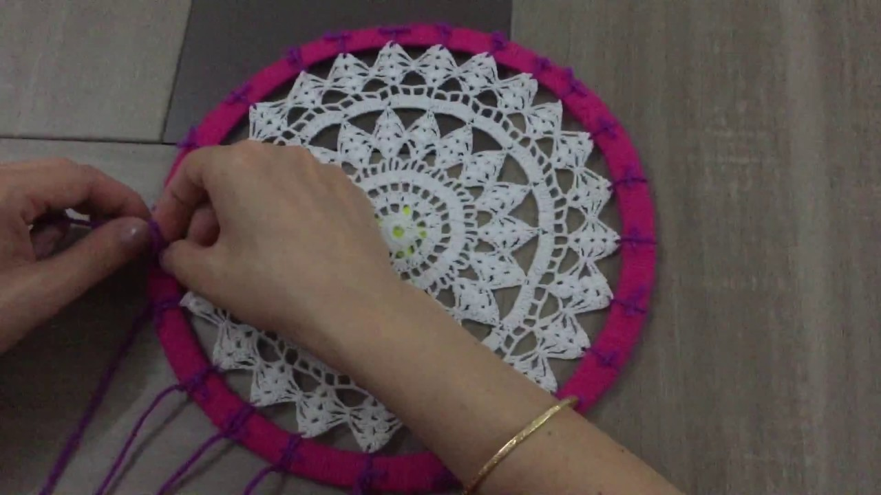Fabrication d 39 un attrape reves youtube - Attrape reve crochet ...
