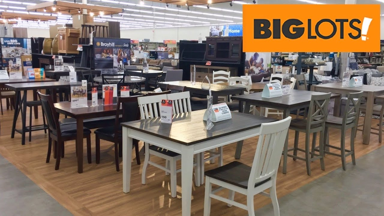 BIG LOTS KITCHEN DINING ROOM FURNITURE TABLES CHAIRS SHOP WITH ME SHOPPING  STORE WALK THROUGH