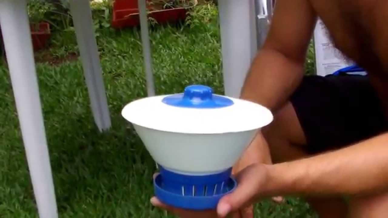 Como tratar gua de uma piscina inflavel parte 1 youtube for Litros de una piscina
