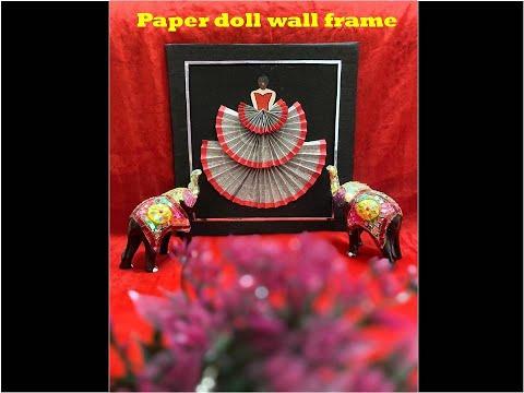 newspaper-doll/-cardboard-wall-frame/-diy-wall-decor/-best-out-of-waste/-diy-newspaper-wall-decor