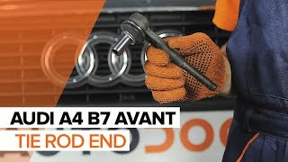 How to replace Brake rotors kit on AUDI A4 Avant (8ED, B7) - video tutorial