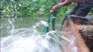 Amazing SRI Lankan traditional best cast net fishing in kiridioya