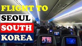Flight to South Korea / Exploring Airports / Korea Autumn Trip 2017 #1