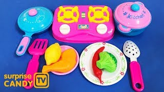Super Kitchen Playset- Toys for Childrens - Let's Cook Vegetables & Chicken Now, Kids!