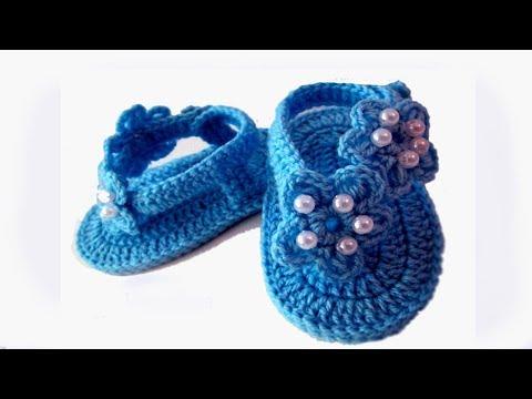DIY baby booties sandals //Vasilisa