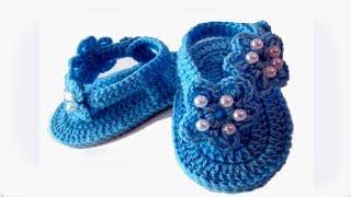 Video DIY baby booties sandals //Vasilisa download MP3, 3GP, MP4, WEBM, AVI, FLV September 2017