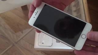 Распаковка iPhone 8 Plus (Gold)