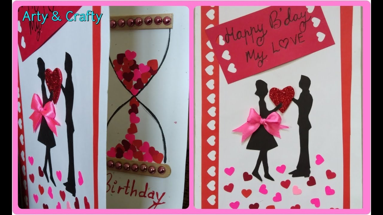 DIY Birthday Card Beautiful Handmade Romantic Greeting Idea By Arty Crafty
