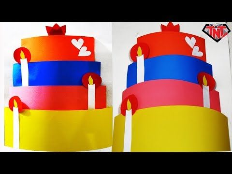 DIY Paper Wall Decor Cake For Valentine's Day || Birthday Cake Wall Hanging || Paper Craft