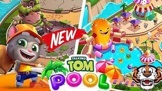 Talking Tom Pool online game for kids free download video 9-16 level