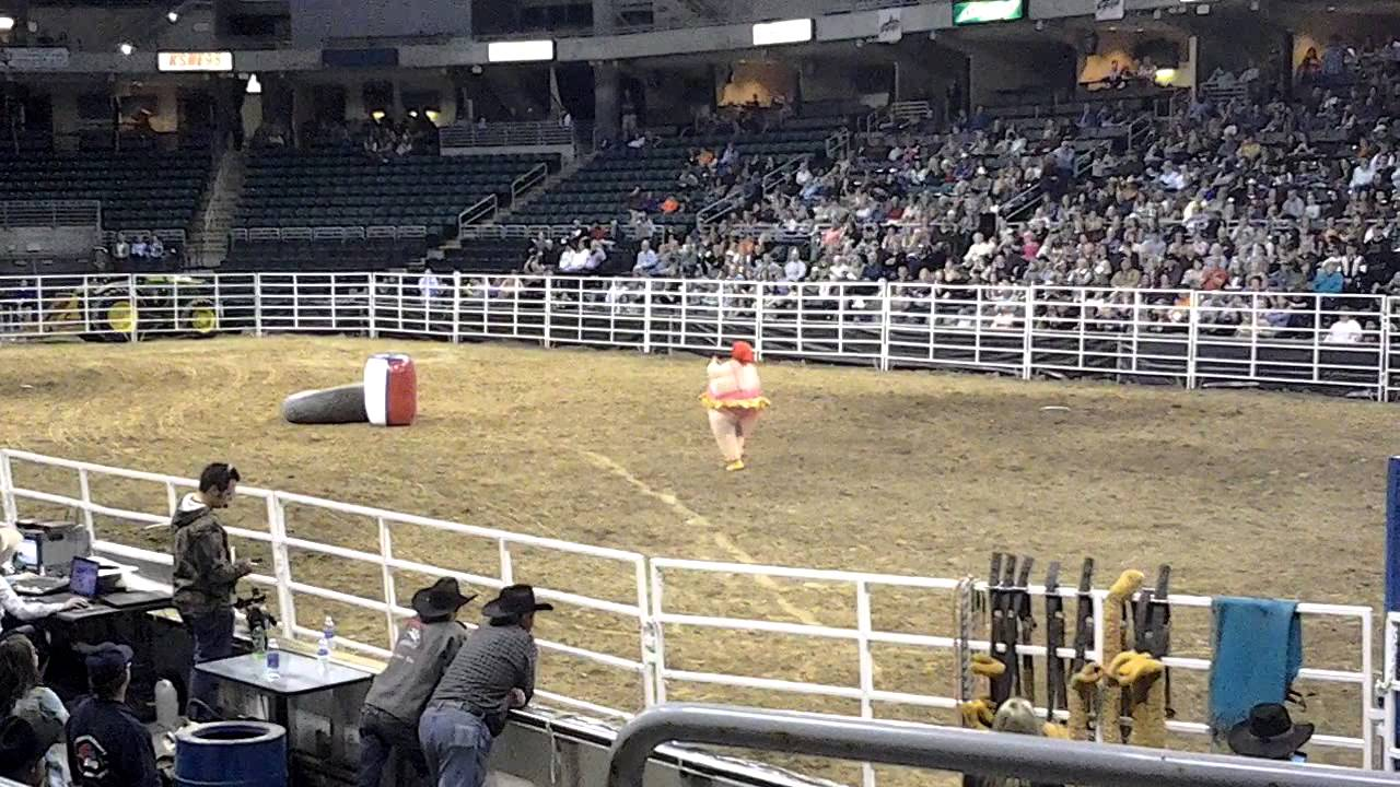 Mike Wentworth Fat Suit Lonestar Rodeo Jan 2013 Youtube