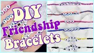 How to Make 3 EASY Friendship Bracelets! (VSCO inspired, adjustable!)