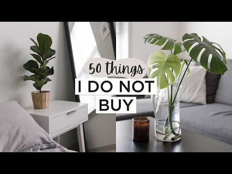 50 THINGS I DO NOT BUY | Minimalism & Saving Money