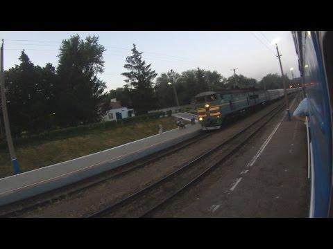 Прибытие поезда №93 Пенза - Москва на станцию Моршанск