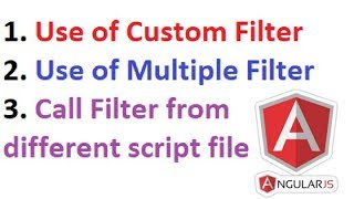 Wie Erstellen **Benutzerdefinierte Filter** | Wie Erstellen **Mehrere Filter** | AngularJS-Filter | Teil 4