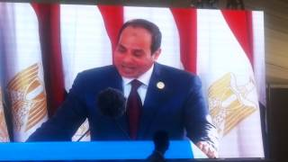 Crying and cheering Egyptians moment speech Sisi and two ships crossing in new  Suez Canal
