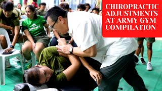 *ASMR* SATISFYING CRACKS ASMR Chiropractic Adjustment Compilation ARMY GYM Manila Chiropractor