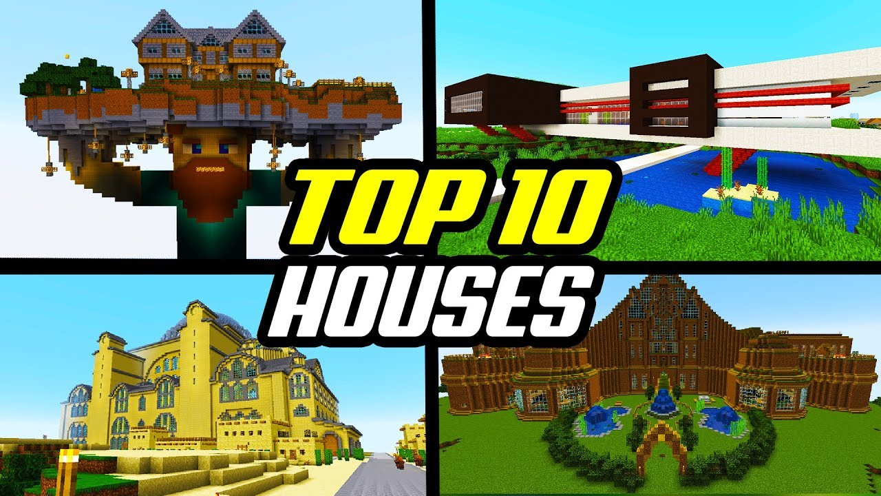 Top 10 Best Minecraft Houses Best Base Builds Creations Youtube