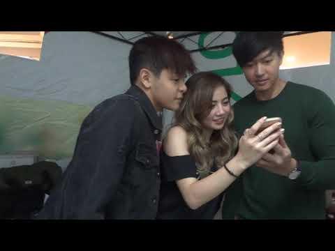 kulitan sa backstage with julian ella and Ronnie Liang @ fishermall