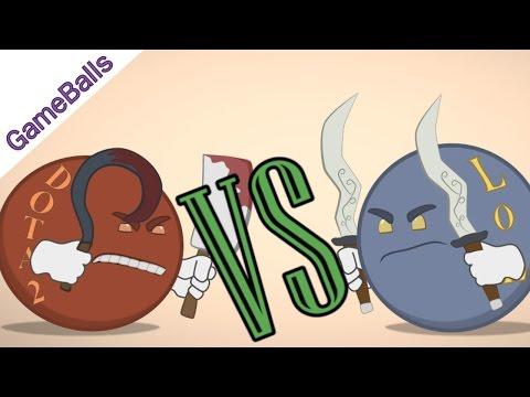 видео: Дота2 против Лиги Легенд - gameballs