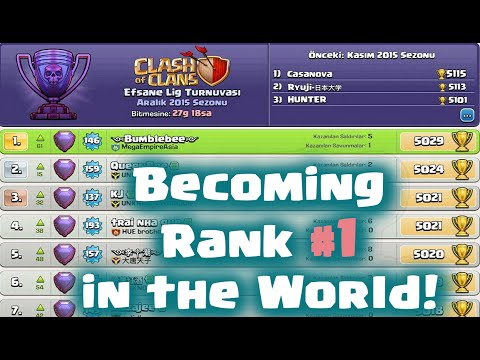 Clash of Clans - Becoming Rank #1 Player in the World! BumbleBee