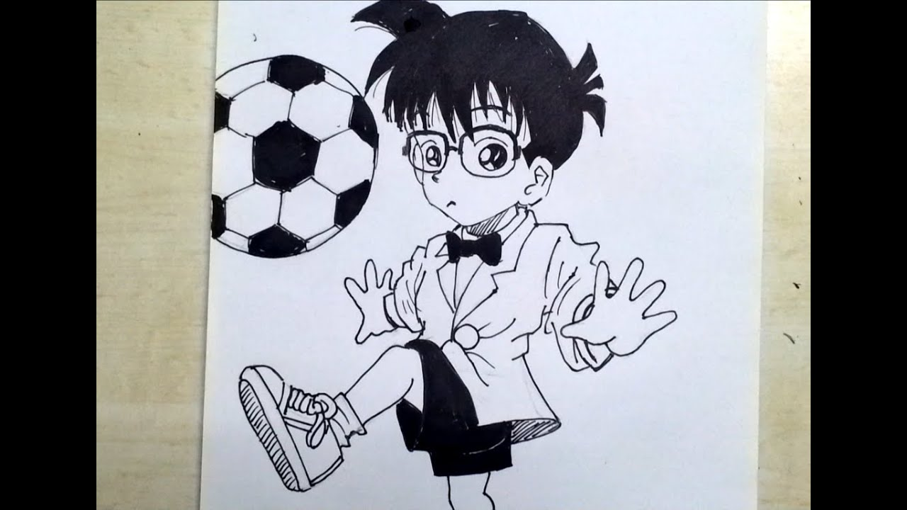 how to draw detective conan speed drawing video