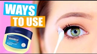 10 WEIRD Ways to Use Vaseline: Vaseline life hacks!