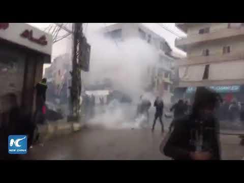 Anti-Trump protest flares in Beirut, Lebanon