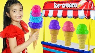 Hana Pretend Play with Wooden Ice Cream Shop Toys